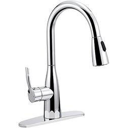 BOHARERS Kitchen Faucet with Sprayer - Single Handle pull do