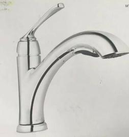 Kitchen Faucet Single Handle Pull Out Sprayer 55 in Braided