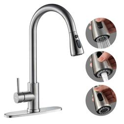 Kitchen Faucet Stainless Steel Sink Tap Single Handle Brushe