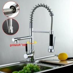 Kitchen Faucet Swivel Spout Single Handle Sink Pull Down Spr