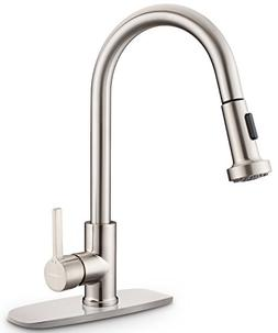 Kitchen Faucet, cUPC Certificated Sarissa Brushed Nickel Sin