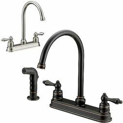 Designers Impressions Kitchen Faucet with Matching Side Spra