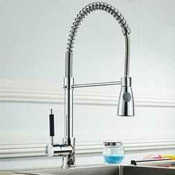 Kitchen Sink Chrome Single Handle Mixer Tap Swivel Pull Out