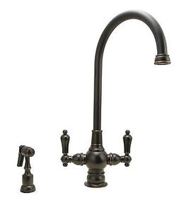 Kitchen Sink Faucet, Oil Rubbed Bronze Finish, Two-hole Inst