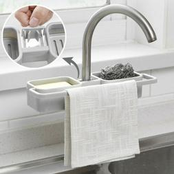 Kitchen Sink Faucet Sponge Soap Cloth Drain Rack Storage Org