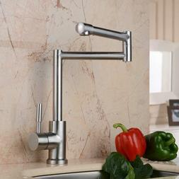 Kitchen Sink Pot Filler Faucet Stainless Steel Laundry Fauce
