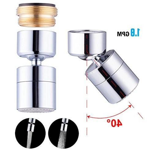 Waternymph 1 8gpm Kitchen Sink Aerator Solid Brass Big Angle Swivel Faucet Home Garden Home Faucets Ayianapatriathlon Com