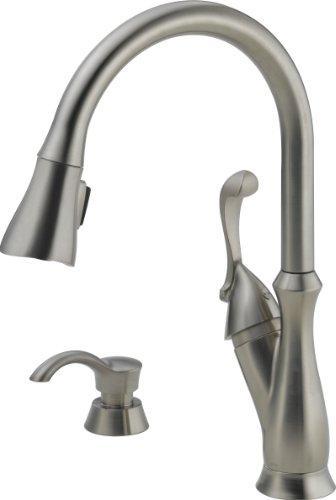 Delta 19950 Sssd Dst Arabella Single Handle Pull Down Kitchen Faucet
