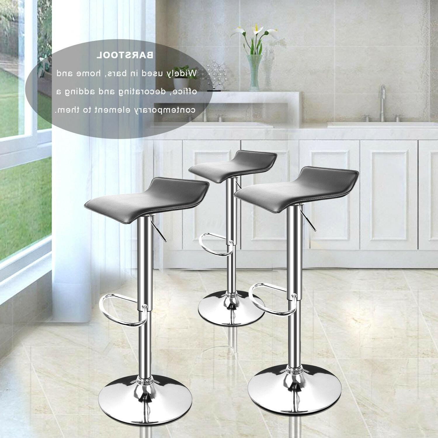 2 Stools Leather Swivel Chairs