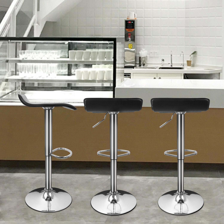 2 PCS Bar Stools Leather Barstool Chairs