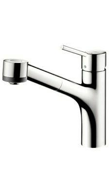 Hansgrohe 6462 Chrome Talis S Pull-Out Kitchen Faucet w/ Loc