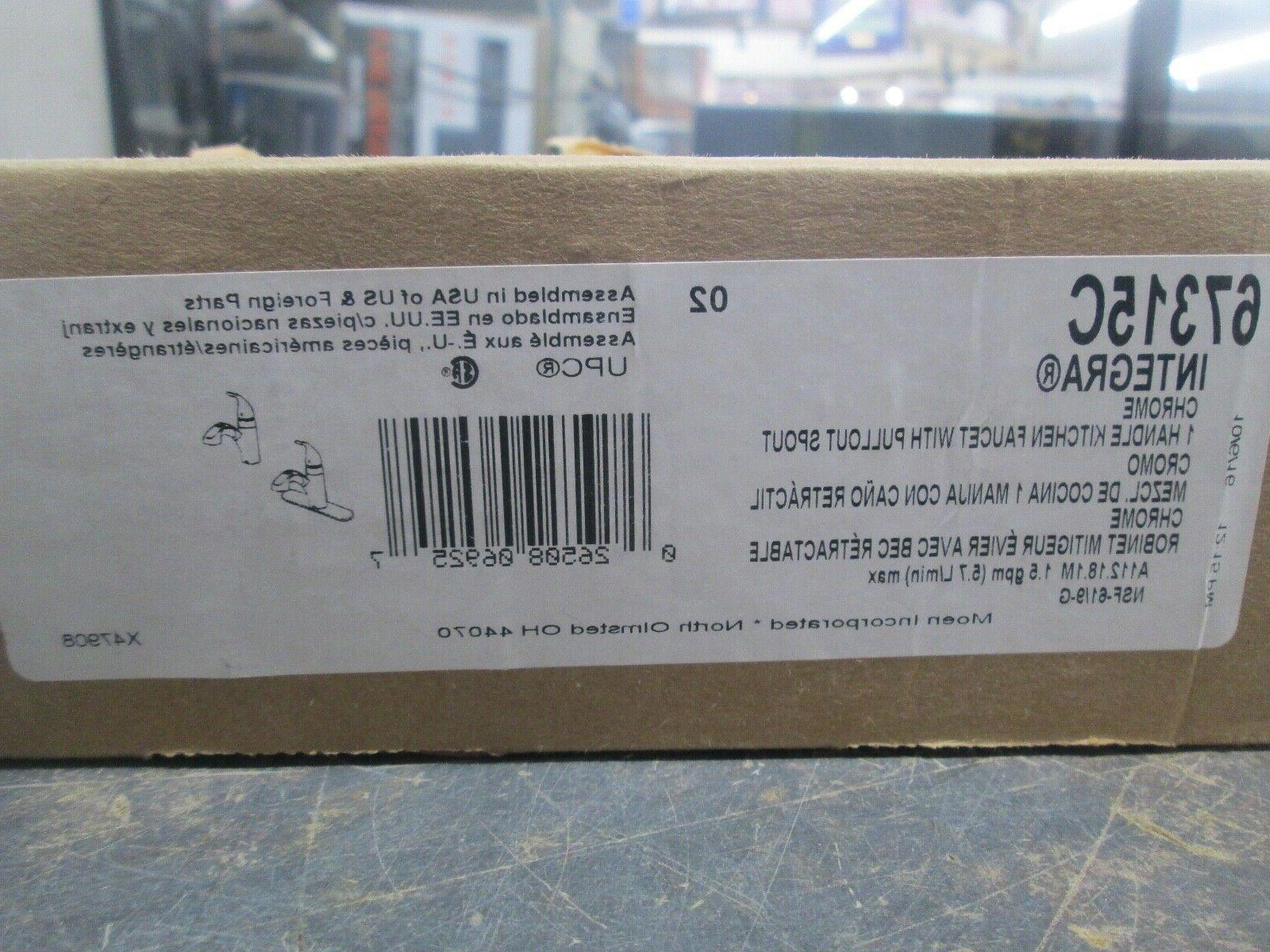 67315c chrome one handle pullout kitchen faucet