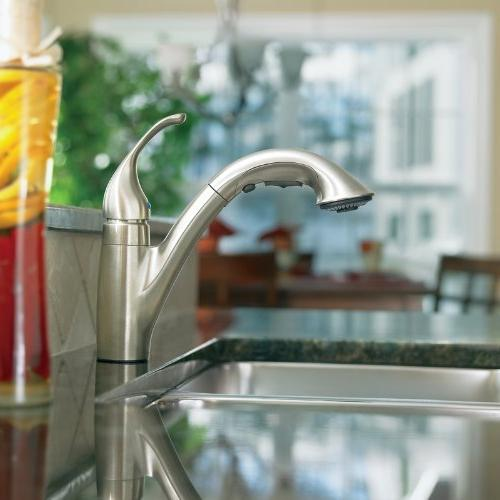 Moen Low Faucet, Stainless