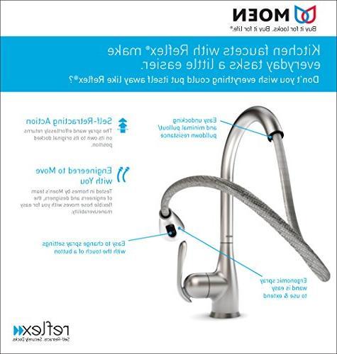 Moen Touchless Pulldown Faucet Reflex, Spot Resist