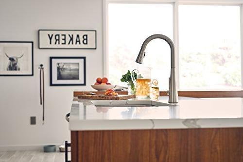 Moen 7864SRS Sleek High Arc Pulldown Faucet Featuring , Spot Resist