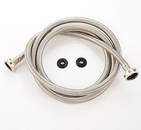 VAPSINT 79-Inche Steel Braided Washing Machine Connector,