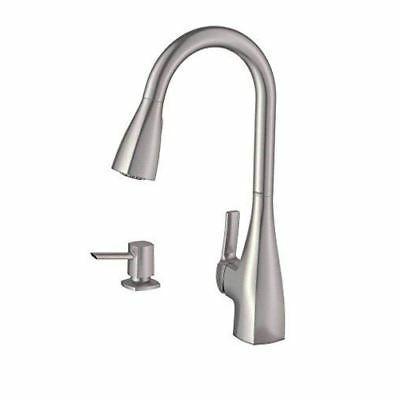 Moen 87599SRS Kiran 1 Handle Pulldown Kitchen Faucet, Spot R