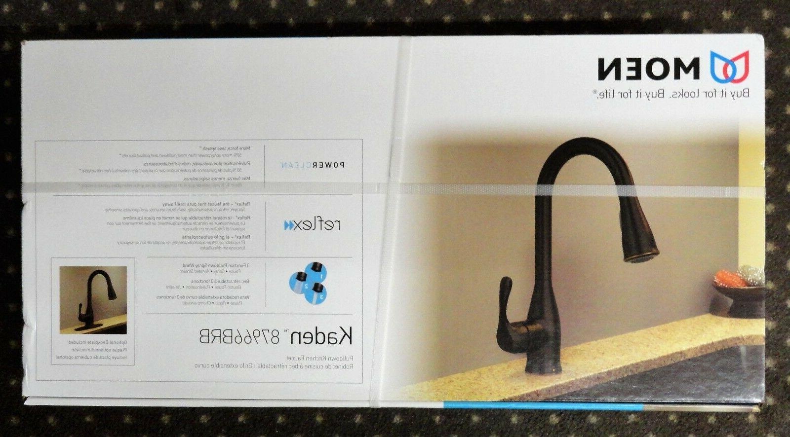 Moen 87966brb Kaden Single Handle Pull Down Sprayer Kitchen Faucet