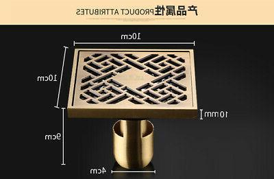 Antique Brass Drain Shower Strainer