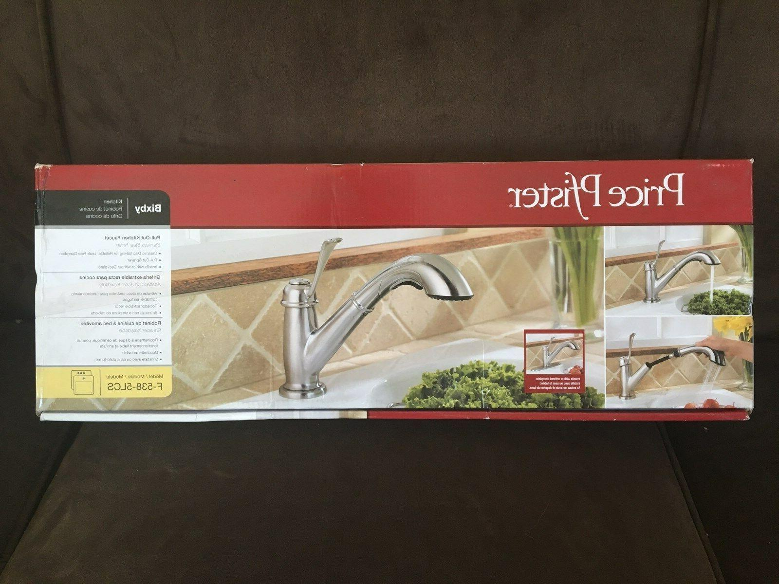 Bixby One Handle Centerset Pull-Out Kitchen Faucet, Stainles