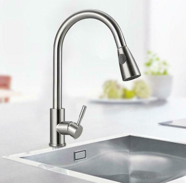 Brushed Kitchen Sink Pull Sprayer Single New