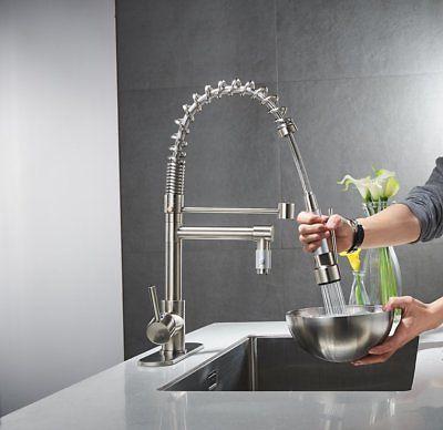ULGKSD Brushed Kitchen Sink Sprayer Mixer