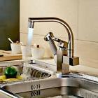 Rozin Brushed Nickel LED Swivel Spout Kitchen Sink Faucet Pu