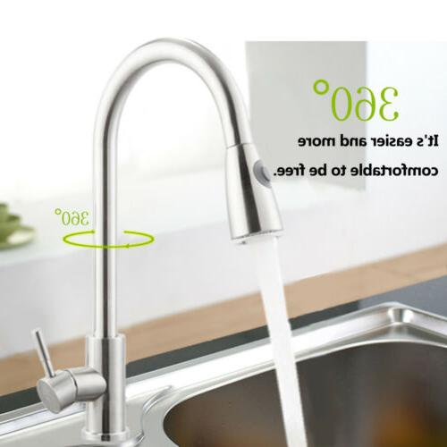 Brushed Sink Out Bar Single Hole Mixer Tap