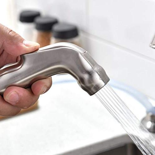 Stainless Kitchen Faucet, High 360 Swivel Faucet Side