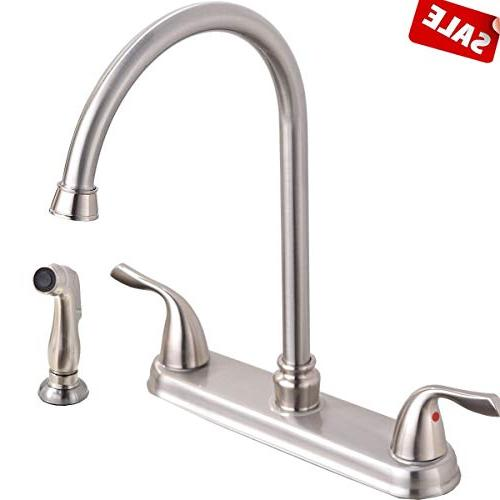 brushed nickel two handle stainless