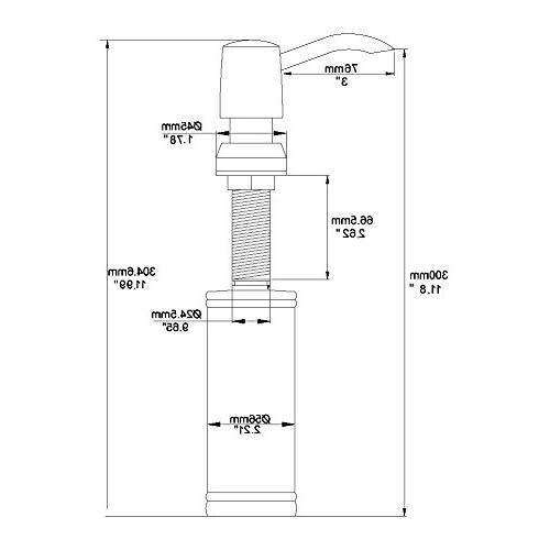 Avola 13 In Mount Soap Dispenser, Commercial Lotion Dispenser, Nickel
