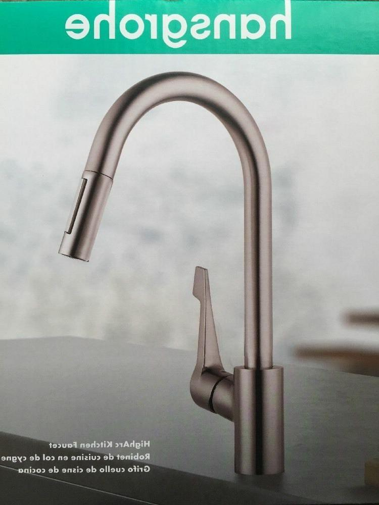 New ! Hansgrohe Cento High Arc Kitchen Faucet Steel Optik Fi