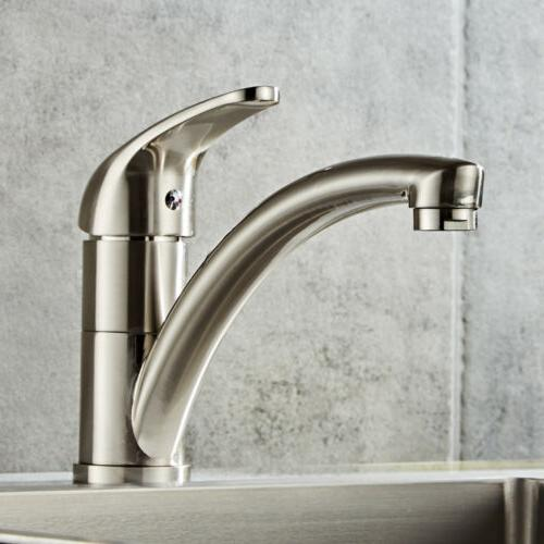 Chrome Brass Brushed Faucet Spout Swivel Sink US