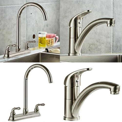 chrome brass brushed kitchen faucet spout single