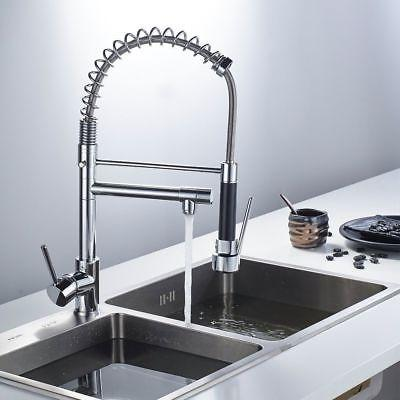 Chrome Spout Pull Spray Mixer Tap
