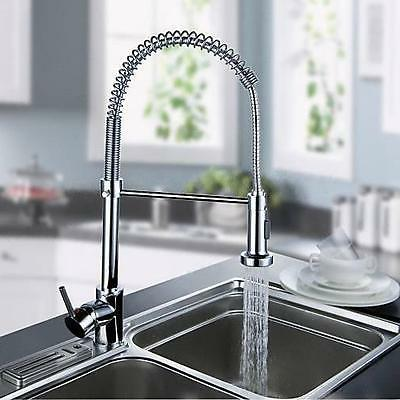 Chrome Pull Out Kitchen Faucet Water Flow One Hole/Handle Ch