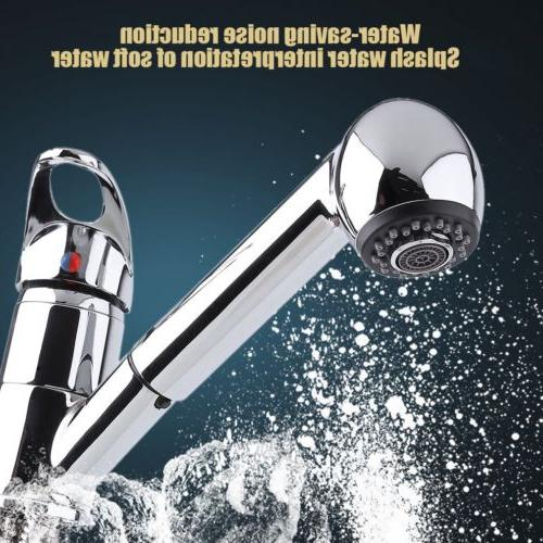 Classic Single Handle Kitchen Sink Faucet With Pull Out Spra