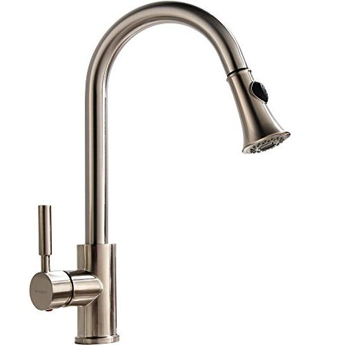 comercial pull swivel brushed nickel