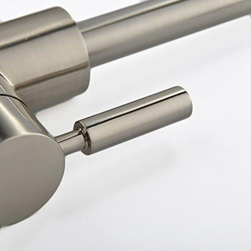 Comllen Best Commercial Nickel Single Handle Kitchen Sink Faucet, Hot and Lever Kitchen