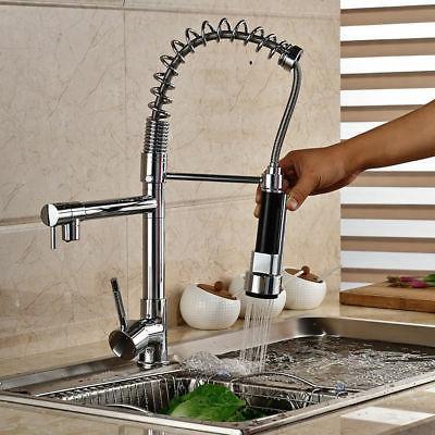 Commercial Kitchen Faucet Polish Chrome One Handle Spout Spr