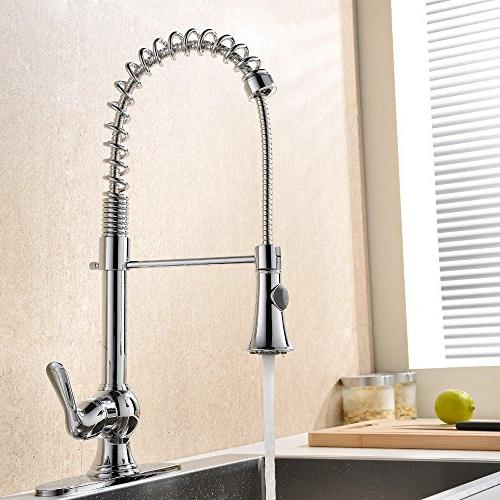 VAPSINT Commercial Lead-Free High Steel Out Kitchen Faucet,Kitchen Faucets