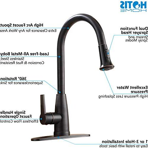 Prep Single Handle Pull Oil Bronze Faucets with