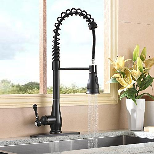 Hotis 3 Single Handle Steel Sprayer Faucet,Oil Rubbed Bronze