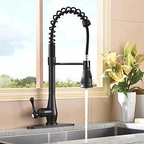 Hotis 3 Hole Pull Single Prep Sprayer Sprayer Kitchen Rubbed Bronze