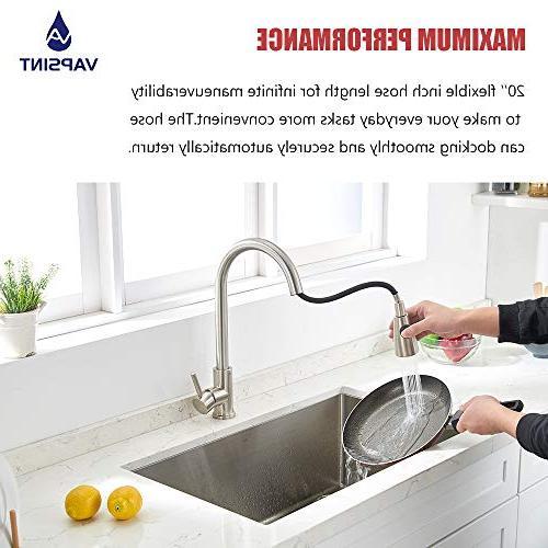 VAPSINT Commercial High Arc Kitchen Faucet, Kitchen Faucets Deck