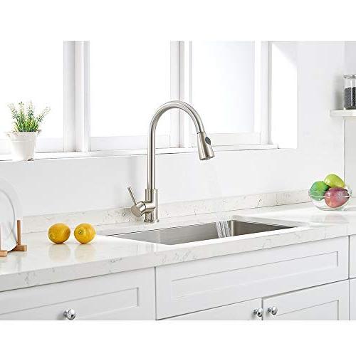 VAPSINT Commercial High Arc Brushed Pull Kitchen Steel Kitchen Deck