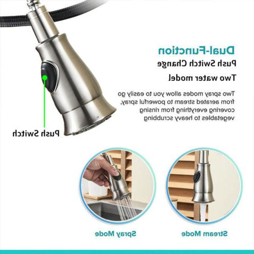 Commercial Single Handle Stainless Steel Pull Out Kitchen Sink
