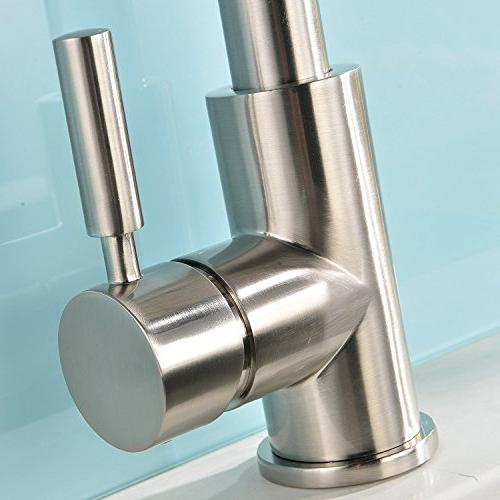 VAPSINT Stainless Steel Brushed Kitchen Faucet,Pull