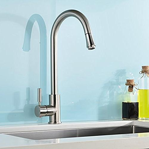 contemporary single handle stainless steel