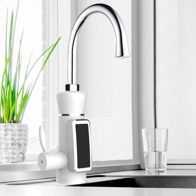 Electric Hot Water Tap Multiple Protection Bathroom <font><b
